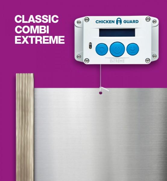 ChickenGuard © Extreme, automatische Hühnerklappe - Combi - mit Classic Door Kit