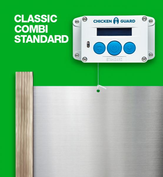 ChickenGuard © Standard, automatische Hühnerklappe - Combi - mit Classic Door Kit